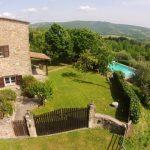 View Across The Pian di Marte, Casa del Lupo, Villa On The Tuscany Umbria Border