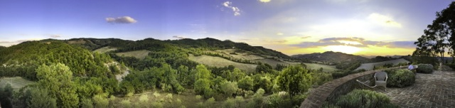 Panorama Across The Umbrian Hills, Il Palazzo di Carpina, Luxury Villa Near Montone, Umbria, Italy
