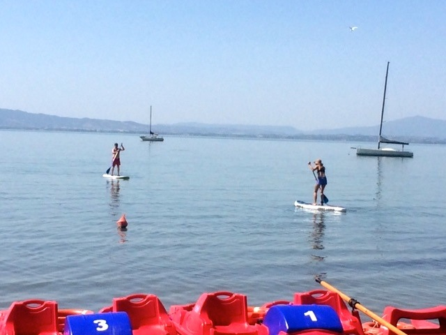 Paddle Boarding On Lake Trasimeno
