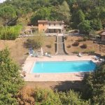An Aerial Photo Of Casa Luciana & The Pool