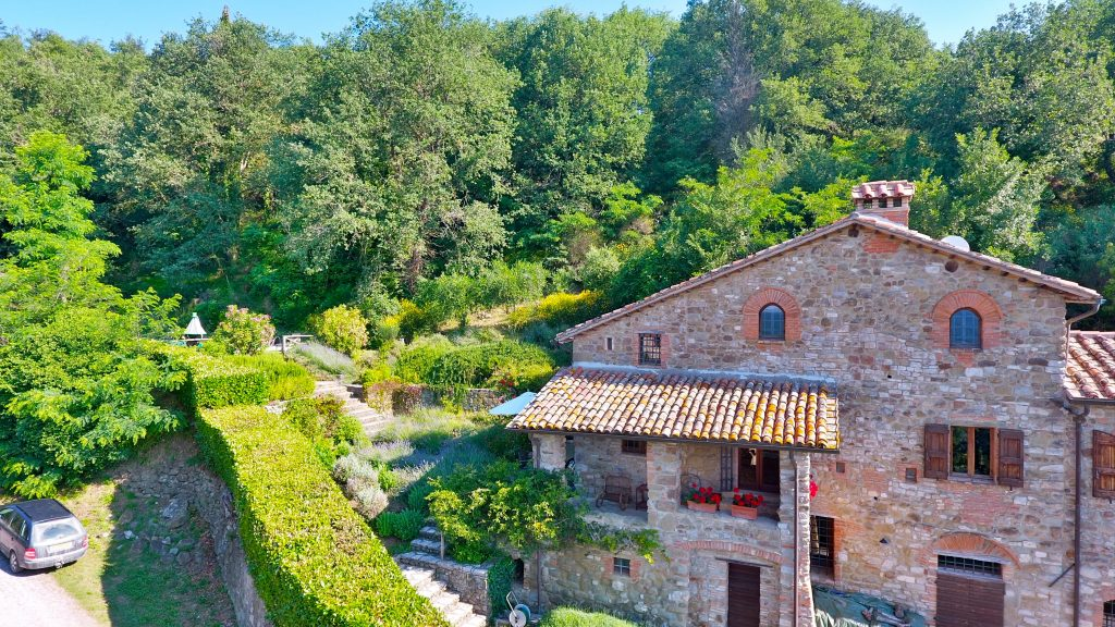 The Front Of Casa Sant'Anna, Holiday Villa Tuscany Umbria Italy Rental.