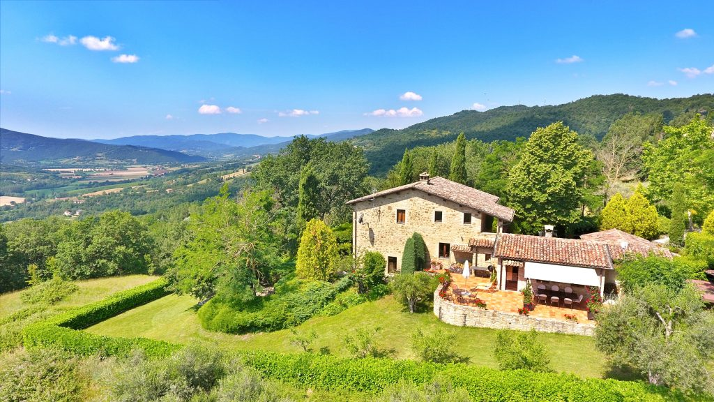 Aerial Photo Of San Nicolo & The Niccone Valley, Holiday Villa Tuscany Umbria Italy