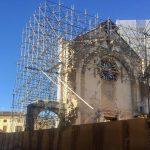The Ruined Church, Basilica Di San Benedetto, In The Centre Of Norcia, Umbria